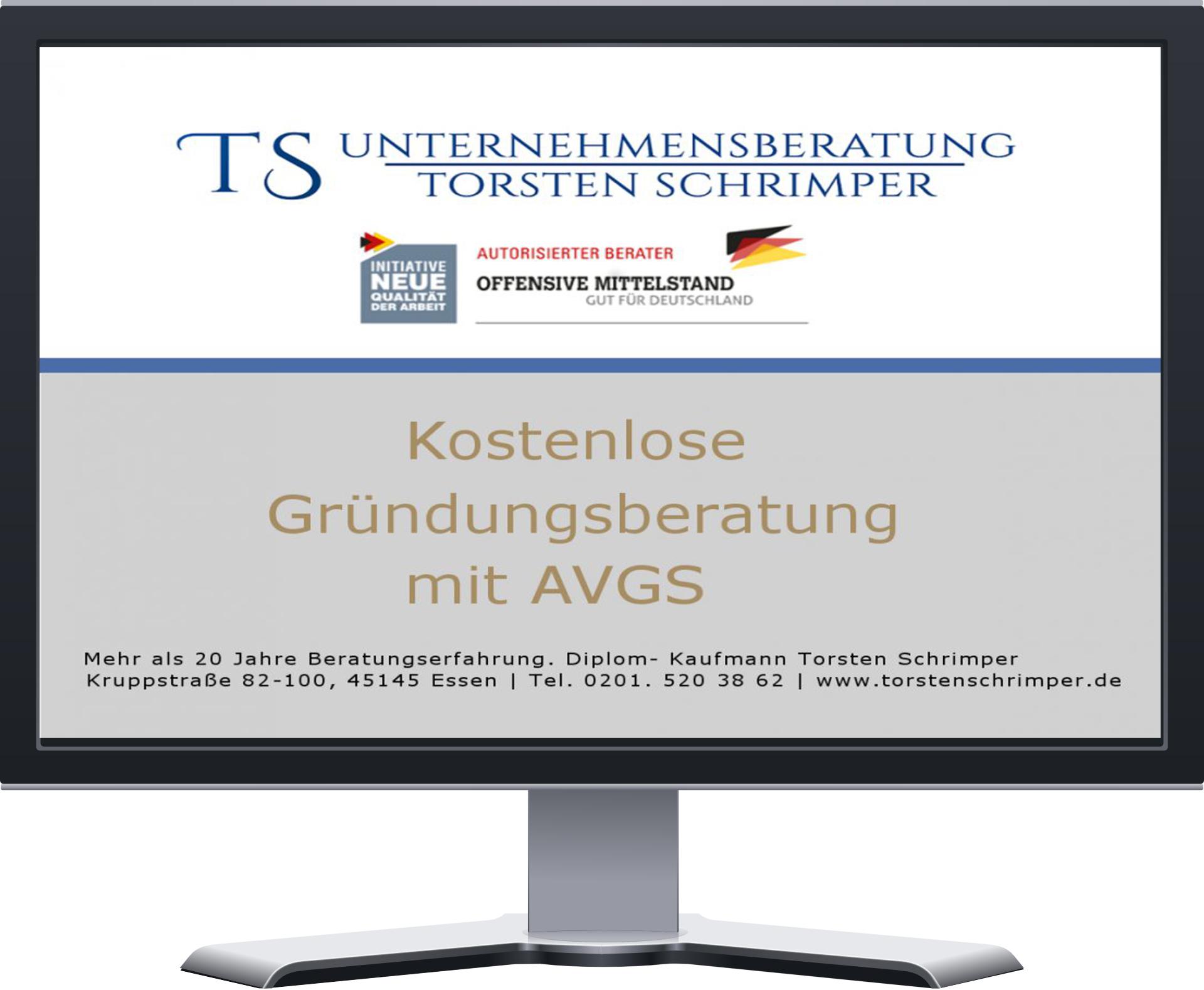 Kostenlose Gründungsberatung mit AVGS