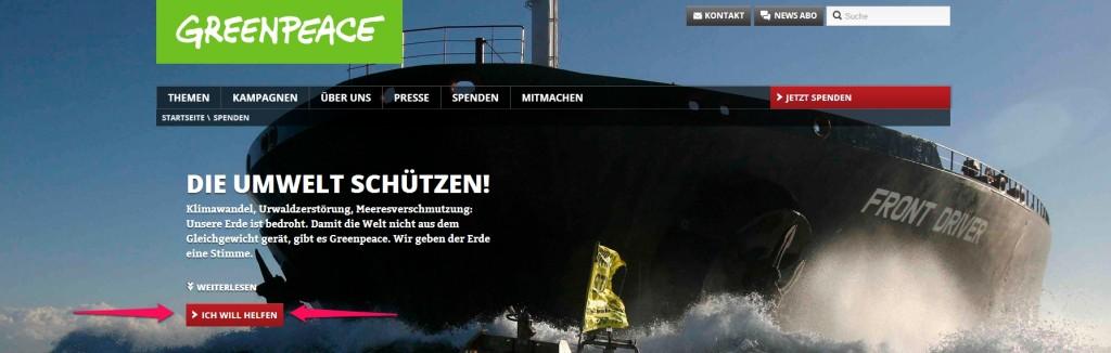 Unternehmensberatung Torsten Schrimper unterstützt Greenpeace