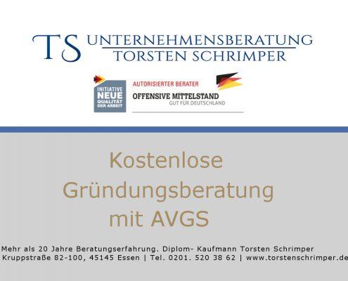 AVGS Kostenlose Gründungsberatung in Essen mit AVGS