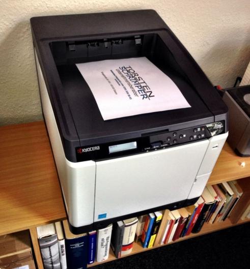 Neuer Drucker