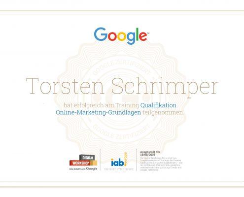 Online-Marketing Workshop Zertifikat