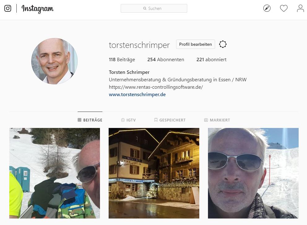 Unternehmensberatung Torsten Schrimper Instagram