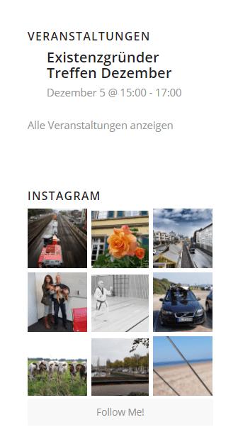 Instagram auf Homepage einbinden